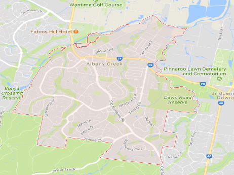Complete Garden Services Albany Creek Map